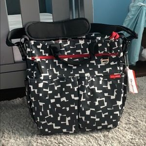 • NWT SkipHop Duo Signature Diaper Bag (Cubes) •